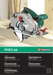 Parkside PHKS 66 User's Manual