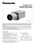 Panasonic WV-BP330 Specification Sheet