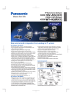 Panasonic WV-ASM970 Specification Sheet