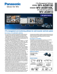 Panasonic WV-ASM100 Specification Sheet