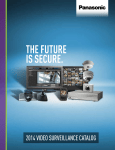 Panasonic Video Surveillance Product Catalog Product Catalog