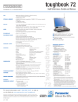 Panasonic Toughbook 72 User's Manual