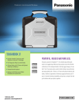 Panasonic Toughbook 31 Specification Sheet