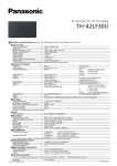 Panasonic TH-42LF30U Specification Sheet