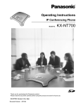 Panasonic KX-NT700 Operating Instructions