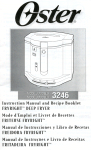 Oster 3246 User's Manual