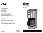 Oster 137264 User's Manual