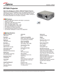 Optoma Technology EP732H User's Manual