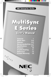 NEC E500 User's Manual