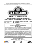 Napoleon Fireplaces EPA 1100 User's Manual