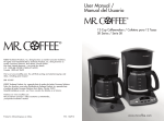 Mr. Coffee SK12 User's Manual