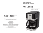 Mr. Coffee JWX27 User's Manual