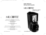 Mr. Coffee FTTX95 User's Manual