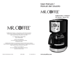 Mr. Coffee CJX21CP User's Manual