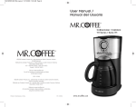 Mr. Coffee BVMC-VMX37 User's Manual