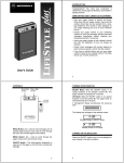 Motorola Lifesyle Plus User's Manual