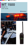Motorola ASTRO MT 1500 User's Manual