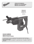 Milwaukee Tools Power Hammer 5303-20 User's Manual