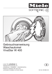Miele Washer W 400 User's Manual