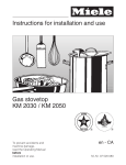 Miele Stove KM 2030 User's Manual