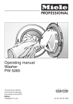 Miele PW 5065 User's Manual