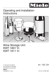 Miele KWT1601VI User's Manual