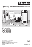 Miele KWL 4612 S User's Manual