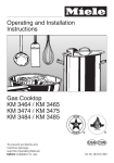 Miele KM 3464 User's Manual