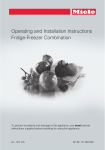 Miele KFNS 37692 iDE Operating and Installation Instructions