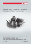 Miele KF 1813 SF Operating and Installation Instructions