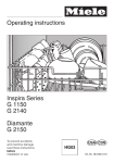 Miele G 1150 User's Manual