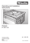 Miele F1411VI User's Manual