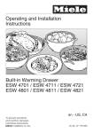 Miele ESW 4701 User's Manual