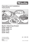 Miele ESW 4088-14 User's Manual
