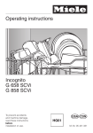 Miele Dishwasher G 658 SCVI User's Manual