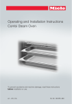 Miele DGC 6705 XL Operating and Installation Instructions
