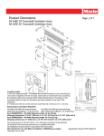 Miele DA 6480 Downdraft Specification Sheet