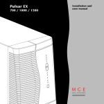 MGE UPS Systems EX 1500 User's Manual