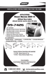 Metra Electronics NISSAN MURANO 99-7426 User's Manual