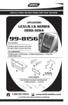 Metra Electronics LEXUS 99-8156 User's Manual