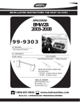 Metra Electronics 99-9303 User's Manual