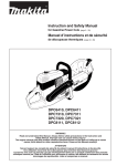 Makita DPC 6410 User's Manual