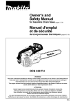 Makita DCS 330 TH User's Manual