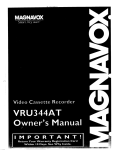 Magnavox VRU344AT User's Manual