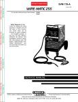 Lincoln Electric 119-A User's Manual