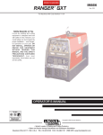 Lincoln Electric IM856 User's Manual