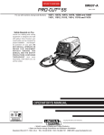 Lincoln Electric PRO-CUT IM637-A User's Manual