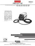 Lincoln Electric PRO-CUT IM595-A User's Manual