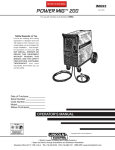 Lincoln Electric IM693 User's Manual
