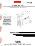 Lincoln Electric SVM144-B User's Manual